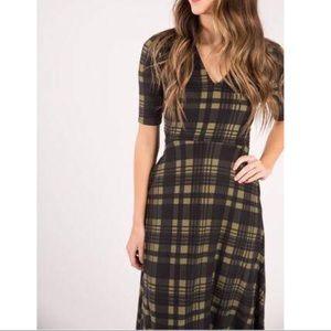 Agnes & Dora Olive Plaid Austen Dress XL (16/18)